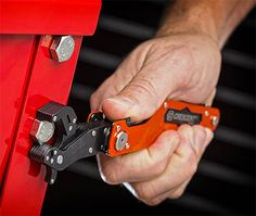 """Crescent Flip and Grip Multi-Tool  The Flip and Grip features a ratcheting wrench with an adjustable jaw that fits over 40 fasteners from 3/8″ to 5/8″ and that's just one of its tools. There's also a knife with both a serrated & smooth-edge blade, a #2 Phillips, a 3/16"""" slotted screwdriver, bottle opener, & wire stripper."""