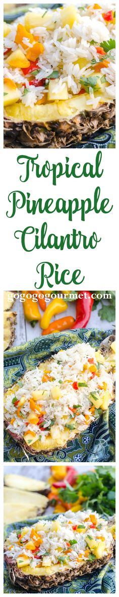 Pair this Pineapple Cilantro Rice with my Coconut Crusted Fish or my Honey Mustard Lime Grilled Shrimp for a tropical-inspired, easy weeknight dinner! | Go Go Go Gourmet @gogogogourmet