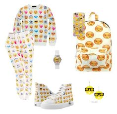 """emjis "" by mwheelwright on Polyvore featuring Casetify and Tatty Devine"