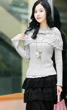 (only grey)Big Embroider Collar Sweater----WW5184 [WW5184] - $10.64 : Chinese Wholesale Clothing,China Women Clothing Wholesale, Wholesale Clothing,Women Clothing Wholesale
