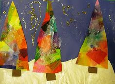 Tissue Paper Abstract Trees