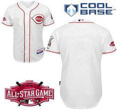 0c4c429da ... MLB Cincinnati Reds Jersey Blank 2015 All-Star Patch White Jerseys  Authentic ...