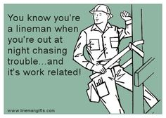 If your lights are on - thank a lineman!
