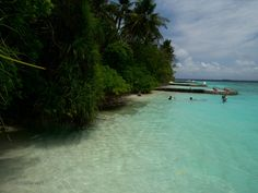 Maldives famous natural beauty of the ocean and coral islands
