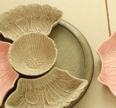 Pink and Gray Lazy Susan  Vintage Mid Century by folkartemporium, $36.00 @Jane Casey
