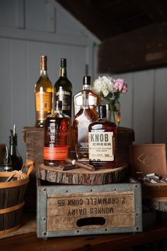 Whiskey and cigar bar! The Barns at Wesleyan Hills, Powerstation Events, June 2015 Cigar And Whiskey Bar, Bourbon Bar, Whisky Bar, Whisky Tasting, Speakeasy Wedding, Cigar Bar Wedding, Speakeasy Decor, Havana Nights Party, Havana Party