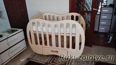Моя фанерная детская кроватка   My baby cot made of plywood