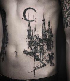 75 Architecture Tattoos With Stunning Artistry Glyph Tattoo, Hp Tattoo, Compass Tattoo, One Word Tattoos, Hand Tattoos, Sleeve Tattoos, Tatoos, Ankle Tattoo Small, Small Tattoos