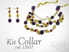 Como hacer Kit 12637 Kit collar cascada olivine