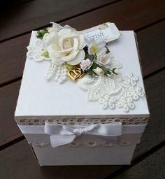 Decorated Exploding Box wedding card