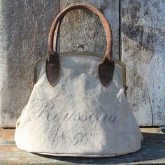 Gorgeous bag ~ just inspiration ~ a flea market find from this bloggers site...... however this is a gorgeous shape!