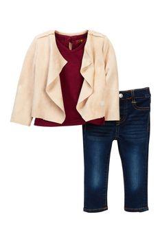 Slouchy Jacket, Tee, & Skinny Jeans (Baby Girls)
