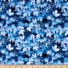Timeless Treasures Scenic Snow Fall Leaves All Over Leaf from @fabricdotcom  Designed for Timeless Treasures, this cotton print fabric is perfect for quilting, apparel, and home decor accents. Colors include shades of blue, white and black.