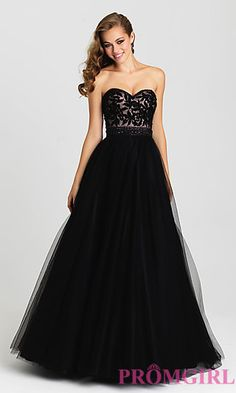 A-Line Strapless Madison James Gown at PromGirl.com
