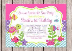 PRINTABLE Personalized Under the Sea Birthday Party por ciaobambino, $12,00