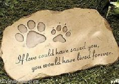 Cat Headstones and Memorials | ... MEMORIAL-GARDEN-STONE-PAW-DOG-CAT-MEMORIAL-MARKER-GRAVE-PET-HEADSTONE