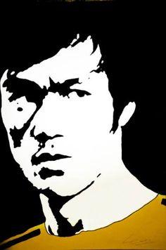 Original Celebrity Painting by David Partida Bruce Lee Poster, Bruce Lee Art, Bruce Lee Martial Arts, Bruce Lee Quotes, Arte Banksy, Bruce Lee Pictures, Pop Art, Newspaper Art, Power Pop