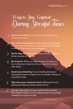 It is hard to stay confident during stressful times. Here are seven tips to help you feel confident while combating stress and anxiety. Stress Quotes, Anxiety Quotes, Deal With Anxiety, Stress And Anxiety, Social Anxiety Test, Signs Of Postpartum Depression, Mindfulness Therapy, Mindfulness For Beginners, Building Self Esteem