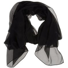 PINKO BLACK Oblong scarf (93 CAD) ❤ liked on Polyvore featuring accessories, scarves, black, silk scarves, black silk shawl, silk shawl, black shawl and oblong silk scarves