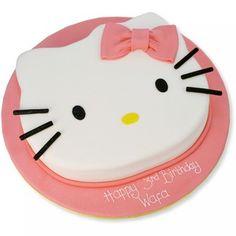 Hello Kitty Face Cake Birthday Toddler Cakes