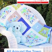 All Around the Town Baby Quilt Pattern - via @Craftsy