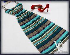TU CLOTHING Dzianinowa Sukienka Maxi w Paski 50/52 (5550357791) - Allegro.pl - Więcej niż aukcje.
