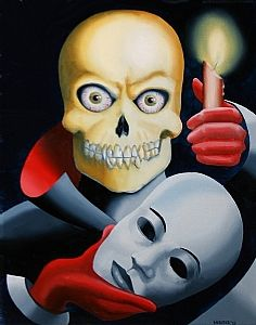 Unmasked Skull Oil Painting by Northern California Artist Mark Webster by Mark Webster
