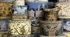wall paper boxes from Shelburne Museum, Vermont...