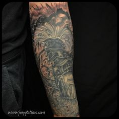 guys with ink, sleeve ideas, sleeve designs, black and gray tattoos, Spartan tattoo