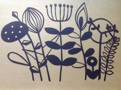 Scandinavian Flowers Papercut, by ClaireM via Folksy, £20.00