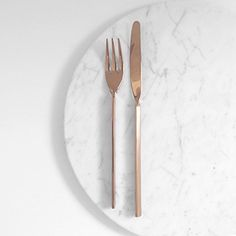 Kitchen — Marble — Silverware - rose gold - copper