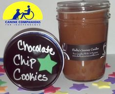Chocolate Chip Cookie Organic Soy Candle!  Eco friendly, clean and slow burning. Get 43 hours of burn time out of our 8 oz candles!   For more information about Shelby and her candles visit us at www.shelbysjourneycandles.com or like us on Facebook http://www.facebook.com/pages/Shelbys-Journey-Candles/316453241762830