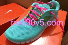 Half Off #Nikes $49.88, Mint Green Nike Free Run 3 Think Pink Lace #shoe