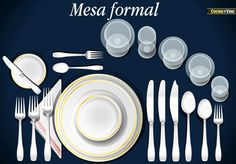 Great Table Setting Guide- A complete guide to table settings including setting a table selecting and purchasing tableware and taking care of tableware. & How to Set A Table - see how many of each type of forks spoons and ...