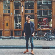 "Florian of @stookercoffee is rocking a fresh pair of Red Wing Shoes 875 6"" Classic Moc Toe in Oro-legacy! Soon we will tell you some more about their amazing coffee!! We will keep you posted! 