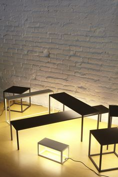 Estudi Arola created a set of lamps that look like tables, or, a set of tables that function as lamps.