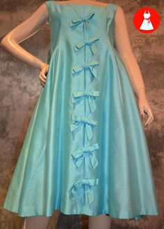 Vintage 1960s MOD Silk Evening Gown Formal Shift by vkcouture, $180.00