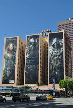 Creative marketing for Elder Scrolls - LA