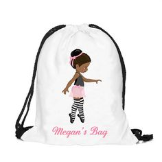 Personalized Ballet bag Personalised drawstring bag by cjcprint