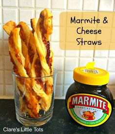 Marmite and cheese straws. The best combination of food ever! This easy recipe is great for kids to help out with and ideal for baby led weaning or an easy toddler snack. (cooking with kids snacks) Kids Cooking Recipes, Baby Food Recipes, Kids Meals, Easy Meals, Cooking Games, Easy Cooking, Healthy Cooking, Savory Snacks, Healthy Snacks
