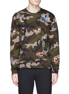 camo and butterfly