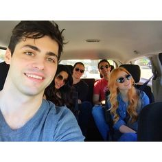 Pin for Later: Shadowhunters: You're About to Be Completely Obsessed With These Behind-the-Scenes Photos  The cast gave fans MAJOR squad goals in the set van shot.