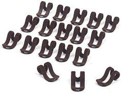 Slim-Line Set of (18) Mini Cascading Hooks (Brown) by ClosetHangerFactory. $11.95. (18) pcs. per Pack. Color Chocolate Brown. Cascading mini hooks for clothes hangers will get your clothes organized. Allows you to hang clothes vertically in closet to save space.