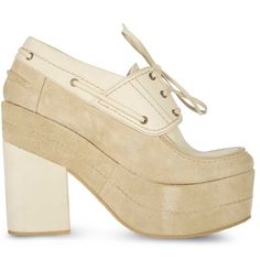 Deux Souliers NAUTIC BRICK #1 NUDE, high quality women nude nudes beige camel leather classic shoes heels wedges platforms mocassins