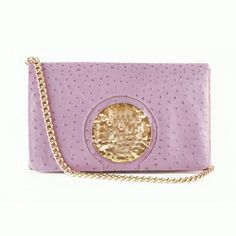 Le St. Tropez: Lavender Ostrich (As Seen in Access | Dareen Hakim $435 free shipping