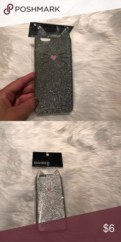 Silver Glitter Silicone Cat iPhone 6/6s case Silver Glitter Silicone Cat iPhone 6/6s case  new and never worn Accessories Phone Cases