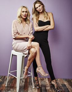 Blonde beauties: Erin Foster (left) and her sister Sara attended a Television Critics Asso...
