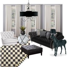 b&w Starck inspired living room by galadesign on Polyvore featuring polyvore interior interiors interior design home home decor interior decorating Pottery Barn Simpli Home Moooi CB2 living room Interior Decorating, Interior Design, Pottery Barn, House Design, Interiors, Living Room, Inspired, Polyvore, Inspiration