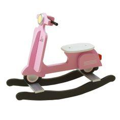 Dondolo Scooter legno rosa