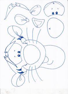 Tigger (Winnie the Pooh) Paper Piecing Patterns, Felt Patterns, Stuffed Toys Patterns, Tigger Winnie The Pooh, Winnie The Pooh Birthday, Disney Scrapbook, Disney Diy, Applique Quilts, Felt Ornaments